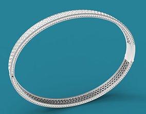 Bracelet with gems 3D print model