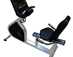 3D model Exercise Cardio Horizontal Bike