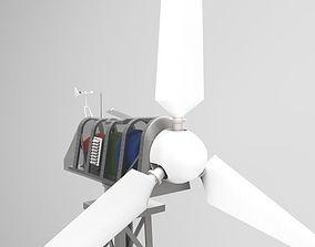 3D 30kW wind turbine