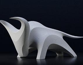 sculptures Abstract bull sculpture 3d print