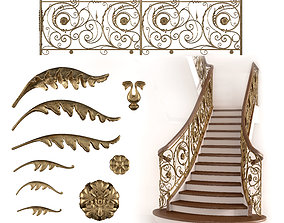 fencing Forged stairs 3D