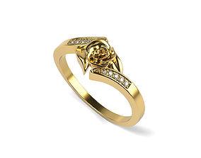 3D printable model Roze Engagement RING