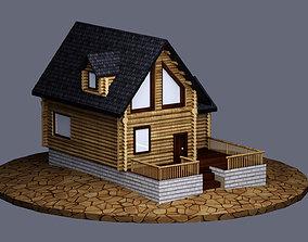 Log House - 3D Model - LowPoly VR / AR ready