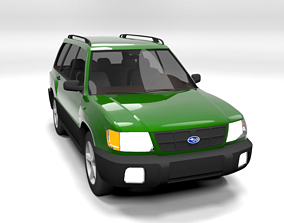 SUBARU FORESTER 2001 LOWPOLY 3D asset