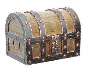 Ancient wooden chest 3D model