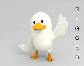3D Rigged Duck Character