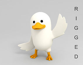 3D model rig Rigged Duck Character