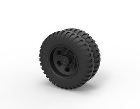3D print model Diecast Double wheel from old truck