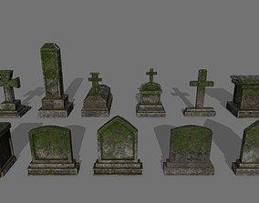 3D asset Tombstone set