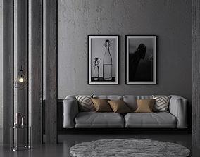 LIVING ROOM DESIGN 3D model home