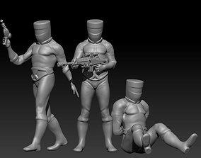 3D print model miniatures buckethead soldiers