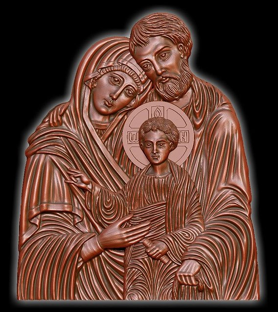 Holy Family Icon 3D print model