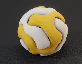3D printable model stress Gyroid Double Sphere