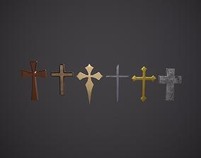 christian Cross 3D model game-ready