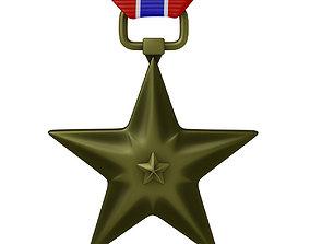 USAF Bronze Star Medal 3D model