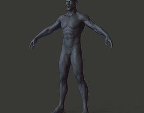 Dark Elf - HQ model 3D asset low-poly
