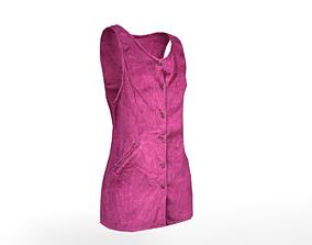3D model 1990s Pinafore Dress