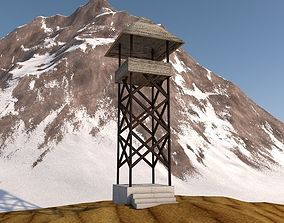 3D model realtime watch tower