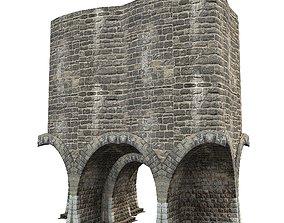 3D model Gatehouse 01 Fortress Entrance Pillar 01