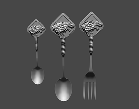 Stark spoons and fork 3D printable model