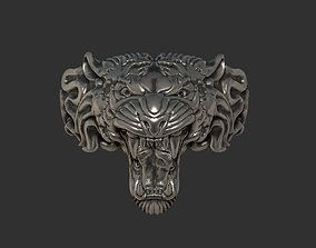 fashioh Jewelry Tiger ring 3D printable model
