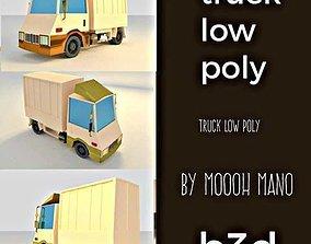 TRUK LOW POLY 3D asset realtime