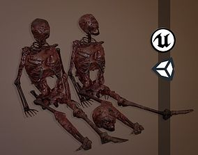 3D model Decomposing Flesh Skeletons - Game Ready - PBR