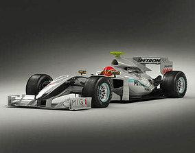 3D Mercedes GP F1 2010