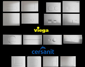 3D asset Set of flush buttons KOLO GEBERIT CERSANIT 1