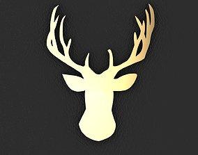 Buck Head Pendant or Charm 3D printable model
