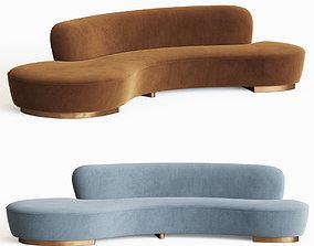 3D Serpentine Sofa Vladimir Kagan
