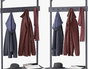 3D Unit Coat Rack by Stattmann