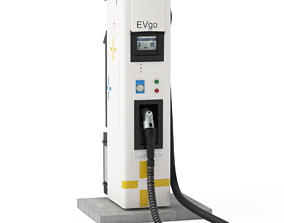 3D Electric Vehicle Charging Station EV GO Pat 2