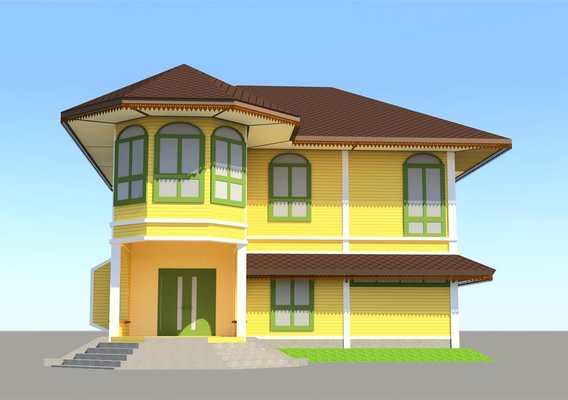 House in colonial style