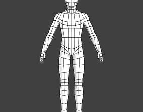 Generic Low-poly Basemesh Male 3D model