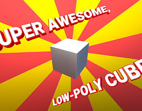 Super awesome high detailed low-poly cube 3D asset