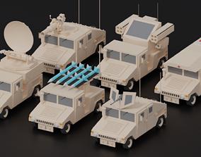 3D asset HUMVEE Military Hummer Collection