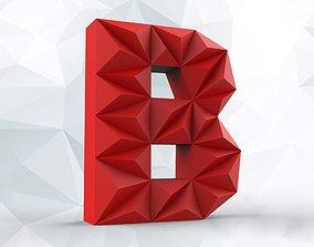 Lowpoly letter B 3D print model