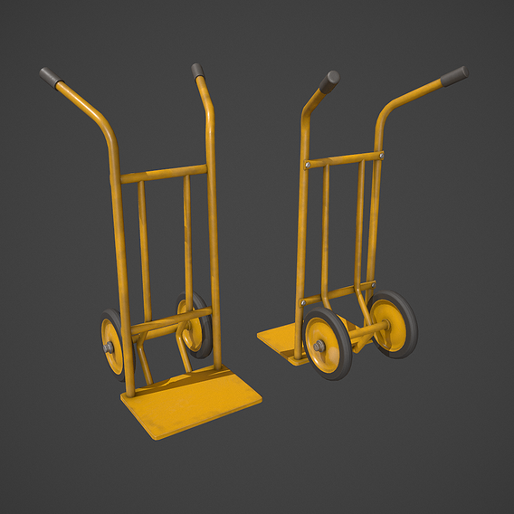 Yellow Sack Truck