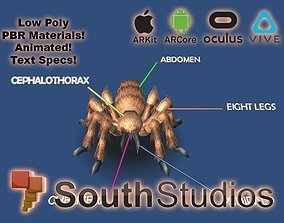 animated Animated Spider AR VR Unity 3dsmax