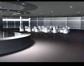 Car dealership interior 3D model