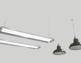 3D asset Industrial lights 3