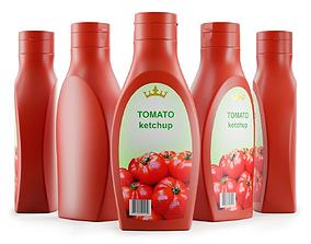3D model Plastic Tomato Ketchup Bottle