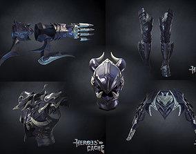 3D model Final Fantasy XIV -Drachen Armor Full set