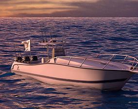 3D model Boston Whaler Center Console Sport Fishing Boat