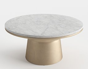 West Elm Pedestal Coffee Table 3D
