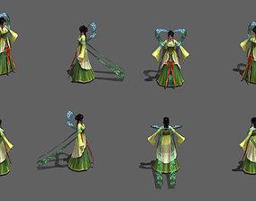 Ancient dancers The maid 3D asset