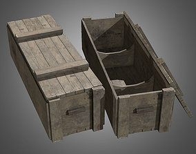 3D asset Large Wooden Crate - PBR Game Ready