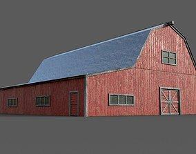 Lowpoly Barn Farm 3D model