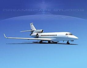 3D model Dassault Falcon 7X V07